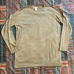 Lightweight Top Long Sleeves Crew Neck Size M Nwot